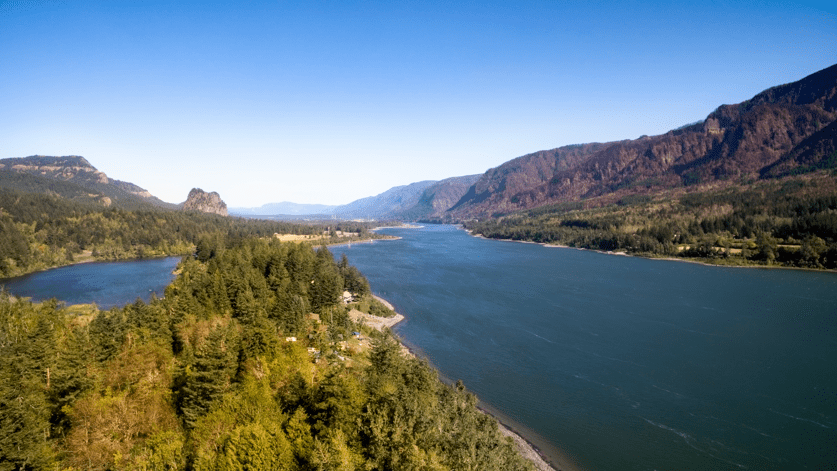 Skamania Lodge-View of the Columbia River